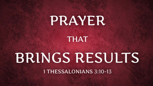 Prayer That Brings Results