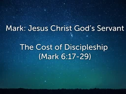 The Cost of Discipleship  Oct. 23