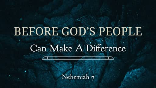 Before God's People Can Make A Difference