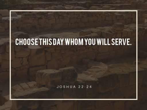 Choose This Day Whom You Will Serve - Sun Feb 2, 2020