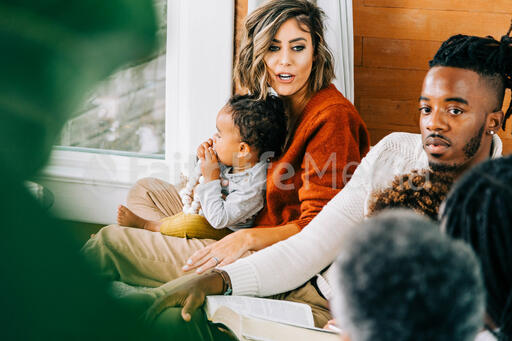 Woman in Conversation during Small Group