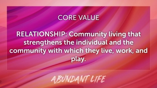 Abundant Life: Relationships