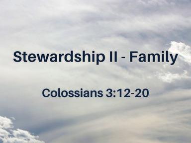 2020.02.09 Stewardship II - Family