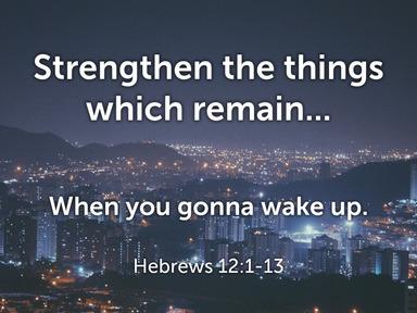 Hebrews 12:1-13  - John Prince