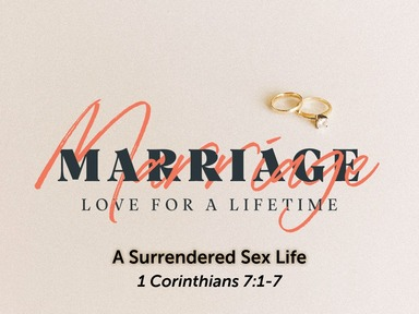 Sunday PM, February 9, 2020  A Surrendered Sex Life