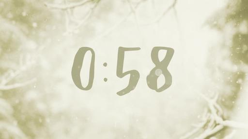 Snowy Christmas Eve - Countdown 1 min