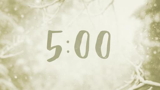 Snowy Christmas Eve - Countdown 5 min