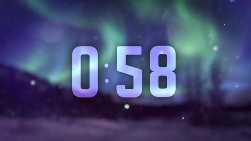 Christmas Aurora - Countdown 1 min