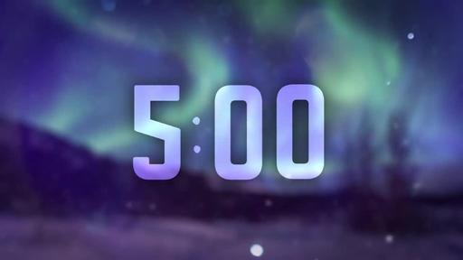 Christmas Aurora - Countdown 5 min