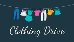 Clothing Drive 16x9 PowerPoint Photoshop image
