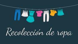 Clothing Drive recolección de ropa 16x9 PowerPoint Photoshop image