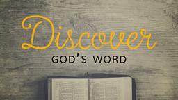 Discover God's Word 16x9 PowerPoint image