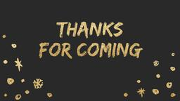 Gold New Year's goodbye 16x9 PowerPoint Photoshop image