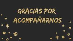 Gold New Year's gracias por acompañarnos 16x9 PowerPoint Photoshop image