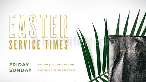 Easter Service Times Bible