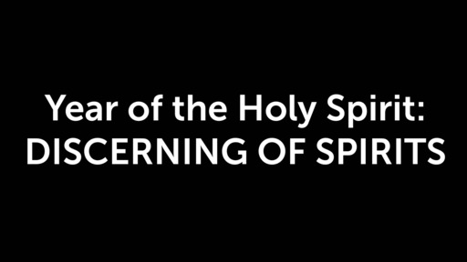 Year of the Holy Spirit: Discerning of Spirits