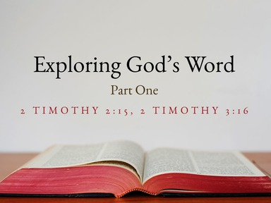 Exploring God's Word Part1