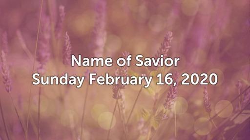 2/16/2020 Name of Savior