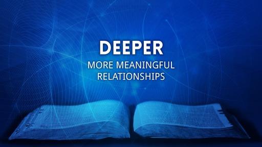 Deeper In Jesus