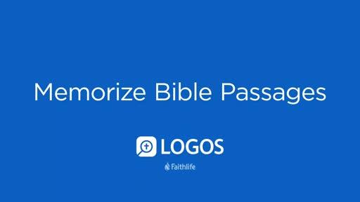 Memorize Bible Passages