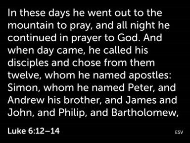11. 'The Saviour's People' (Luke 6:12-36)