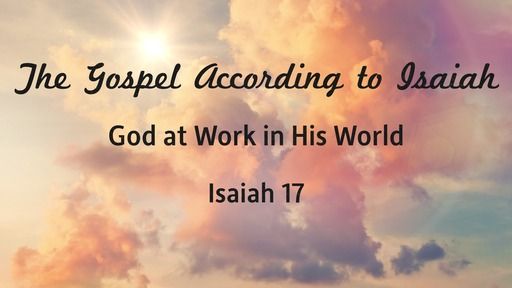 God at Work in His World