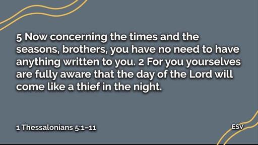 February 23, 2020   1 Thessalonians   How shall an Authentic Church Live