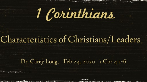 Characteristics of Christians/Leaders