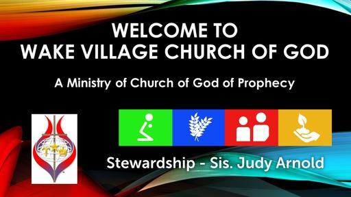 Stewardship - sis Judy