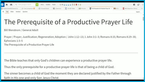 The Prerequisite of a Productive Prayer Life