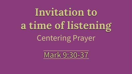Centering Prayer (Ash Wednesday)