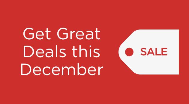 Get Great Deals This December