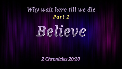 Why wait here till we die part 2 03/01/2020