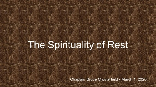 Spirituality of Rest