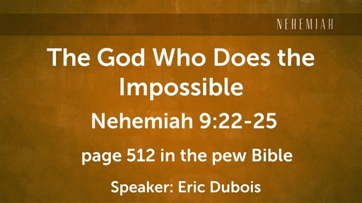 The God Who Does The Impossible