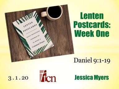 """""""Lenten Postcards - Part 1"""""""