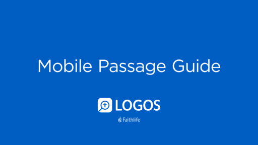 Mobile Passage Guide