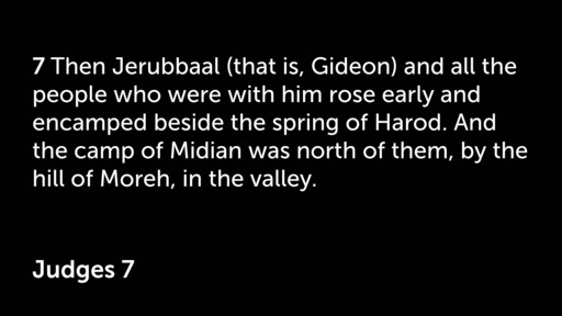 Gideon Strength Made Perfect in Weakness