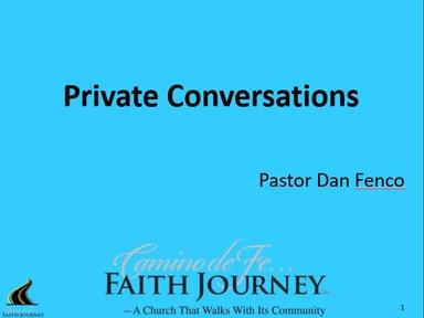 Pastor Dan Fenco:  Faith Journey