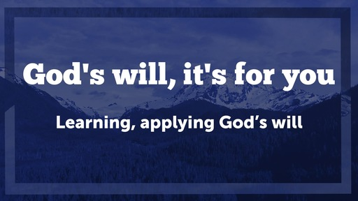 God's Will: It's discernable
