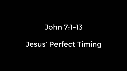 Jesus' Perfect Timing