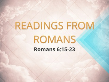 Readings from Romans 9