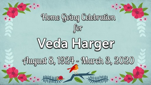 Veda Harger Memorial