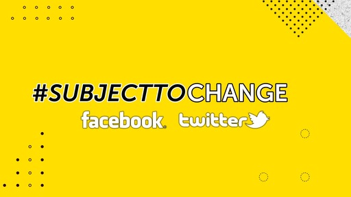 SUBJECT TO CHANGE_WINNING SEASON_3/10/2020