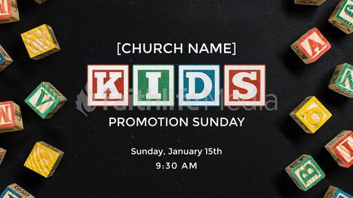 Kids Promotion Sunday