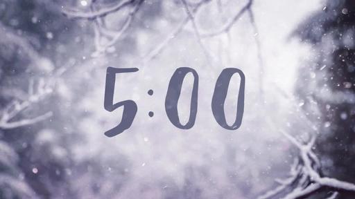 Snowy Serenity - Countdown 5 min
