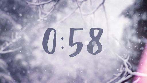 Snowy Serenity - Countdown 1 min