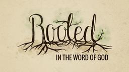 Rooted in the Word of God 16x9 PowerPoint Photoshop image
