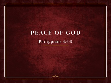 March 15, 2020 AM - Peace of God