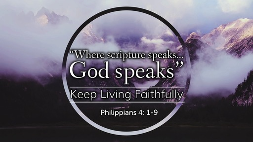 """Where scripture Speaks...God speaks"""